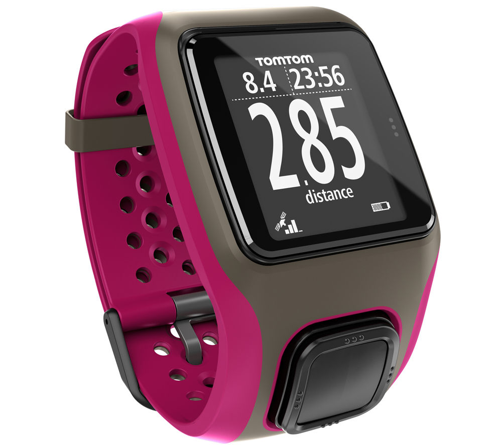 Tomtom Multi-Sport GPS Sports Watch - Dark PinkTomtom Multi-Sport Running GPS Watch, Pink